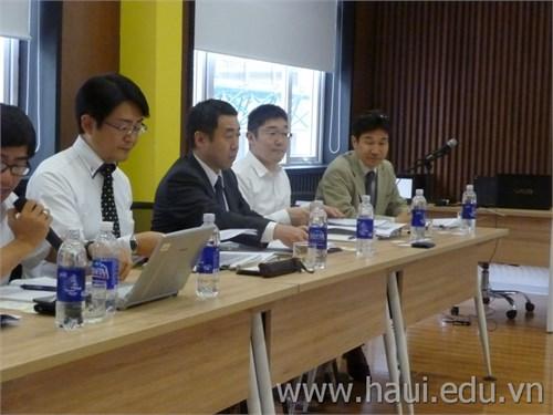 Đoàn đánh giá Dự án của Cơ quan Hợp tác Quốc tế Nhật Bản tới làm việc tại trường