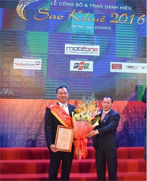 Trường Đại học Công nghiệp Hà Nội nhận Danh hiệu Sao Khuê 2016 cho Hệ thống Quản trị Đại học điện tử
