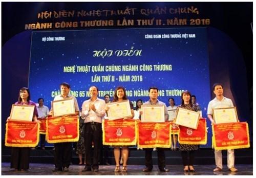 Nhiều giải thưởng từ Hội diện nghệ thuật quần chúng ngành Công Thương năm 2016