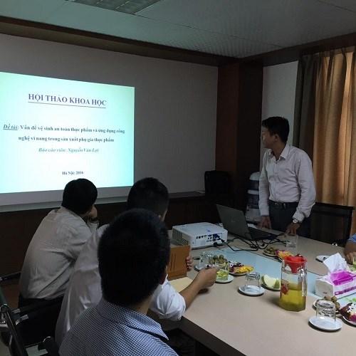 """Hội thảo """"Vấn đề vệ sinh an toàn thực phẩm và ứng dụng công nghệ vi nang trong sản xuất phụ gia thực phẩm"""""""