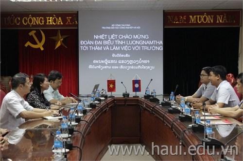 Đoàn đại biểu tỉnh Luongnamtha tới thăm và làm việc