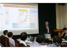 Hiệp hội khuôn mẫu Nhật Bản đến thăm và làm việc tại trường