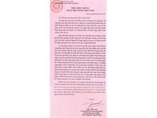 """Thư chúc mừng """"Ngày Nhà giáo Việt Nam"""" của Bộ trưởng Bộ Công Thương"""