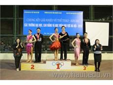"""Chung kết giải """"Khiêu vũ thể thao - Aerobic các trường đại học, cao đẳng và học viên khu vực Hà Nội"""" năm 2016"""
