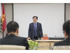 Đoàn cán bộ chủ chốt Trường Cao đẳng Kinh tế Công nghiệp Hà Nội thăm và học tập kinh nghiệm tại trường