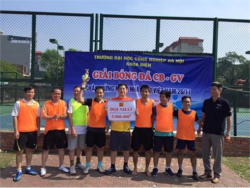 Giải bóng đá CB-GV khoa điện 2016