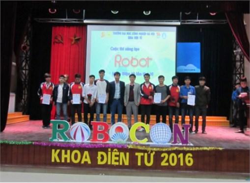 """Chung kết cuộc thi """"Sáng tạo Robot Khoa Điện tử """" lần thứ VI"""