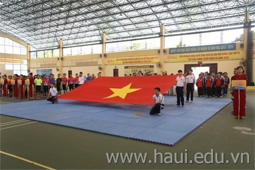 Opening the third Handball Championship for HaUI students – Hong Ha Stationary Cup