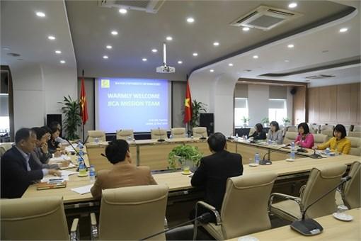 Đoàn khảo sát JICA - Dự án HaUI-JICA pha 4 làm việc với Nhà trường