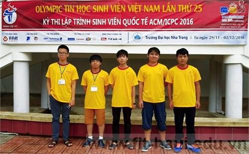 Đội tuyển Tin học Trường ĐH Công nghiệp Hà Nội đạt giải Olympic Tin học sinh viên Việt Nam 2016