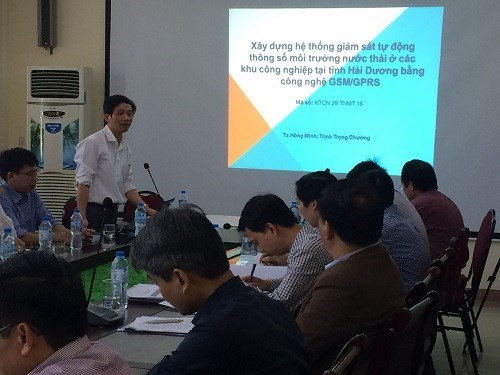 Project appraisal meeting at institutional level in Hai Duong in 2016