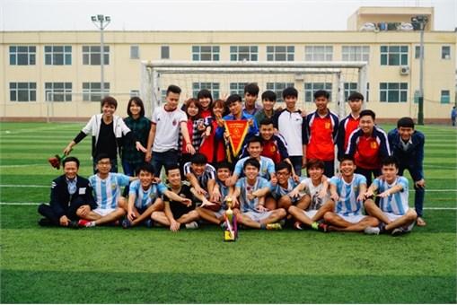"""Thông báo tổ chức """"Giải bóng đá nam HSSV khoa Điện tử tại cơ sở Hà Nam lần thứ III """""""