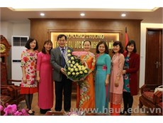 HaUI Rector meets and congratulates the Women Committee in commemoration of International Women's day March the 8th
