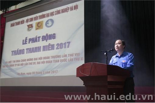 Sôi động Lễ phát động ra quân Tháng Thanh niên năm 2017