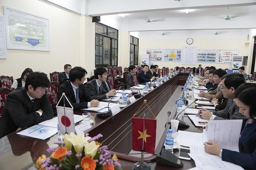 The joint coordination committee of HaUI - JICA project holds the 6th meeting