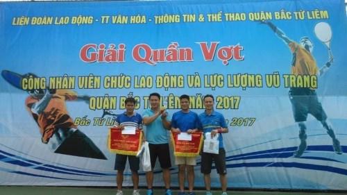 Giải Quần vợt Cán bộ VCLĐ và LLVT quận Bắc Từ Liêm năm 2017
