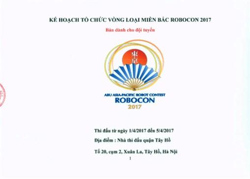 Robocon Việt Nam 2017: Khai mạc vòng loại phía Bắc từ ngày 1/4