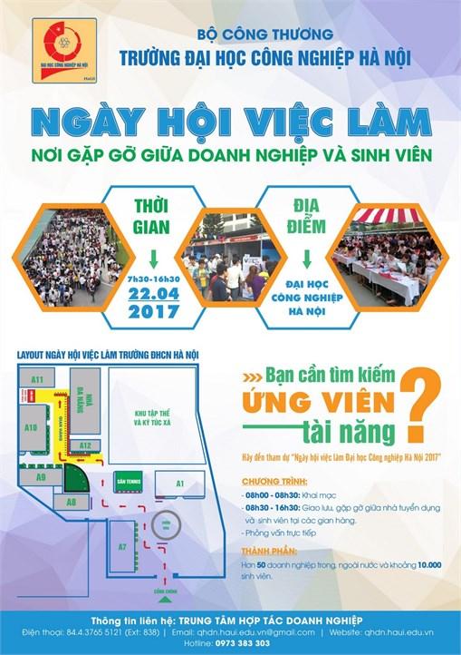 Thông báo `Ngày hội việc làm Trường Đại học Công nghiệp Hà Nội năm 2017`