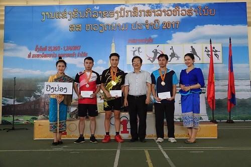 Bế mạc `Đại hội thể thao lưu học sinh Lào toàn thành phố Hà Nội` năm 2017