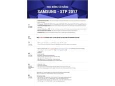 """Trung tâm Nghiên cứu và Phát triển ĐTDĐ Samsung Việt Nam – SVMC Chương trình """"Học bổng Tài năng Samsung 2017""""."""