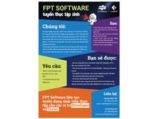 FPT Software liên tục tuyển dụng sinh viên thực tập cho các vị trí Developer và Tester