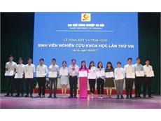 Tổng kết và trao giải Sinh viên nghiên cứu khoa học lần thứ VIII