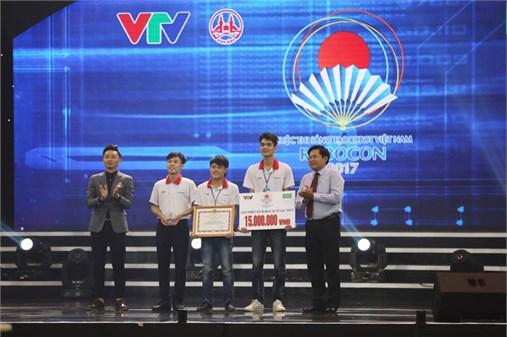 Đội ĐT4, Đại học Công nghiệp Hà Nội giành giải `Thiết kế Robot Xuất sắc nhất` cuộc thi sáng tạo Robot Việt Nam năm 2017