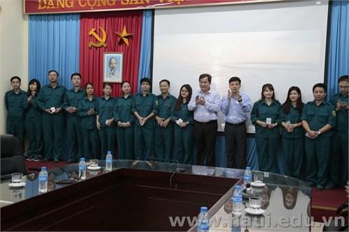 Khai mạc Huấn luyện lực lượng Tự vệ trường Đại học Công nghiệp Hà Nội năm 2017
