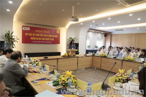 Khai mạc đợt khảo sát chính thức phục vụ đánh giá ngoài Trường Đại học Công nghiệp Hà Nội