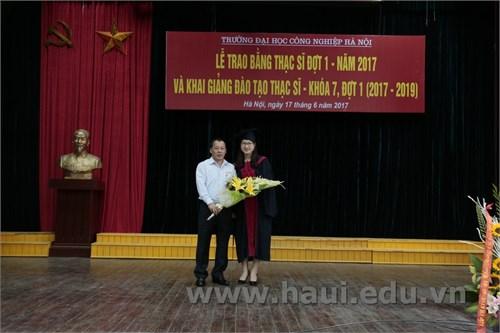 Trao bằng Thạc sĩ đợt 1 năm 2017 và Khai giảng Cao học khóa 7 đợt 1