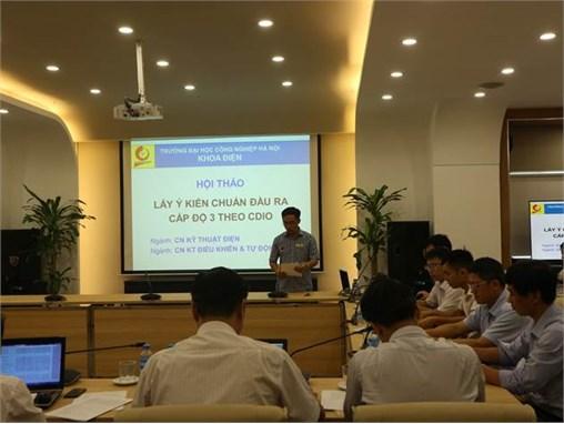 Hội thảo lấy ý kiến chuẩn đầu ra ngành Công nghệ Kỹ thuật Điện - Điện tử và Công nghệ Kỹ thuật Điều khiển & Tự động hóa theo mô hình CDIO