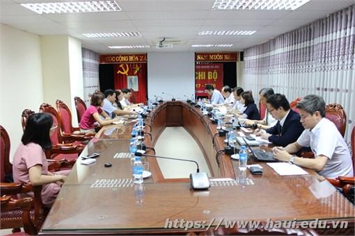 Trường Đại học Công Nghiệp Hà Nội tiếp đoàn khảo sát Dự án Jica Nhật Bản về hỗ trợ Doanh nghiệp vừa và nhỏ ở Việt Nam.