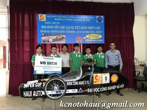 Gặp mặt chúc mừng đội xe tiết kiệm nhiên liệu trước khi lên đường thi đấu quốc tế tại Nhật Bản