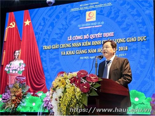 Trường Đại học Công nghiệp Hà Nội: Long trọng tổ chức Lễ công bố Quyết định trao Giấy chứng nhận kiểm định chất lượng giáo dục và khai giảng năm học 2017 – 2018