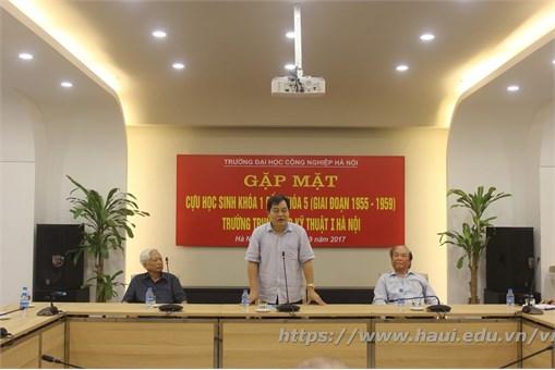 Trường Đại học Công nghiệp Hà Nội tổ chức gặp mặt cựu học sinh khóa 1 đến khóa 5 ( giai đoạn 1955 - 1959) Trường trung cấp kỹ thuật I Hà Nội