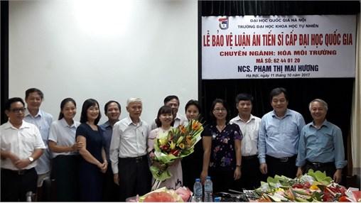 Lễ bảo vệ luận án tiến sĩ của Giảng viên - NCS Phạm Thị Mai Hương
