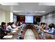 Tiếp đoàn khảo sát của Tổ chức Giáo dục Quốc tế, Đào tạo và Tư vấn (CAAL) về việc tổ chức Hội thảo Quốc tế IBSM lần thứ 5 tại Đại học Công Nghiệp Hà Nội