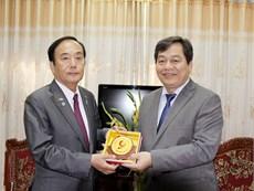 Tỉnh trưởng Tỉnh Saitama Nhật Bản đến thăm và làm việc với Trường Đại học Công nghiệp Hà Nội