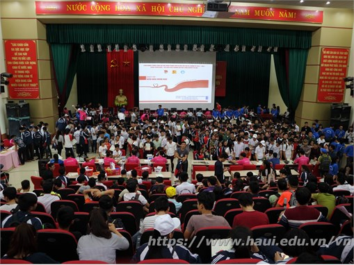 """Sinh viên Đại học Công nghiệp Hà Nội hưởng ứng """"Ngày hội Hiến máu nhân đạo năm 2017"""""""