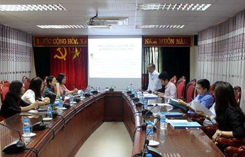 Nghiệm thu đề tài NCKH cấp trường do TS. Nguyễn Thị Thanh Loan chủ nhiệm