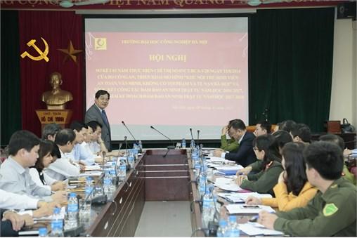 Hội nghị sơ kết 03 năm triển khai thực hiện Chỉ thị số 07/CT-BCA-V28 ngày 15/8/2014 của Bộ Công an, tổng kết công tác đảm bảo an ninh trật tự năm học 2016-2017 và triển khai kế hoạch đảm bảo an ninh trật tự năm học 2017-2018