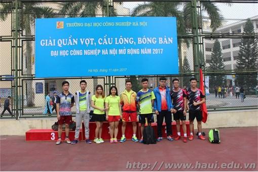 Khai mạc Giải quần vợt, cầu lông, bóng bàn Đại học Công nghiệp Hà Nội mở rộng năm 2017