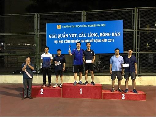 Bế mạc Giải quần vợt, cầu lông, bóng bàn Đại học Công nghiệp Hà Nội mở rộng năm 2017