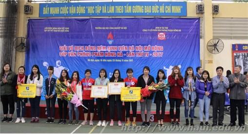 Trường Đại học Công nghiệp Hà Nội xuất sắc giành giải tại cuộc thi Bóng ném sinh viên Hà Nội mở rộng – Cúp Văn phòng phẩm Hồng Hà lần thứ IV năm 2017