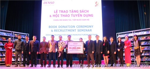 Lễ trao tặng sách và hội thảo tuyển dụng của Công ty TNHH DENSO Việt Nam