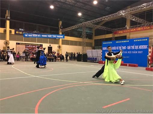 """Chung kết giải `Khiêu vũ thể thao – Giải thể dục Aerobic sinh viên thành phố Hà Nội năm 2017"""""""