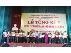 Đại học Công nghiệp Hà Nội đạt 13 giải trong Kỳ thi tay nghề Thành phố Hà Nội năm 2018