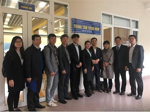 Khai trương Trung tâm Tiếng Hàn tại Trường Đại học Công nghiệp Hà Nội