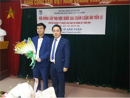 NCS. Lê Anh Tuấn bảo vệ thành công luận án Tiến sĩ cấp nhà nước.