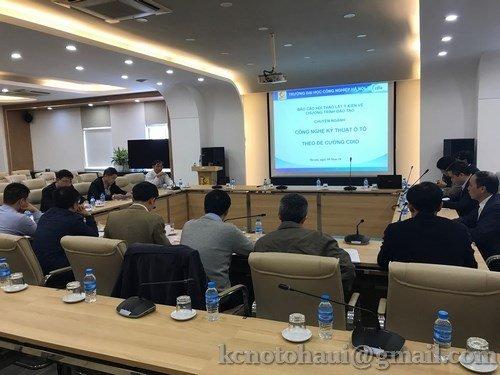 Hội thảo lấy ý kiến về khung chương trình ngành công nghệ ô tô theo mô hình CDIO